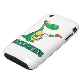 rockasaurus rock n roll dino dinosaur.ai tough iPhone 3 cover