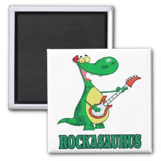 rockasaurus rock n roll dino dinosaur.ai fridge magnet