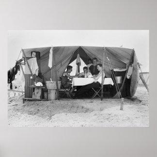 Rockaway Beach Card Game: 1910 Print