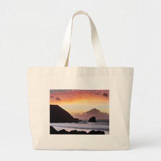 Rockaway Beach Sunset Tote Bags