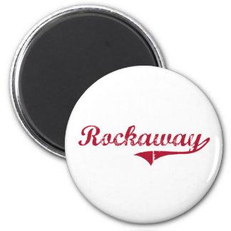 Rockaway New Jersey Classic Design 2 Inch Round Magnet