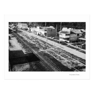 Rockaway, playa y calle principal Photograp de Postal
