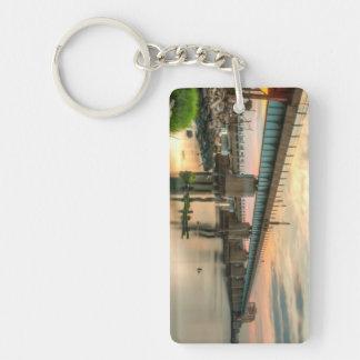 Rockaway Train Bridge Keychain