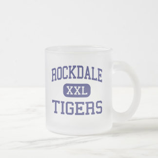 Rockdale - Tigers - High School - Rockdale Texas 10 Oz Frosted Glass Coffee Mug