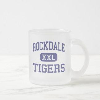 Rockdale - Tigers - Junior - Rockdale Texas 10 Oz Frosted Glass Coffee Mug