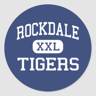 Rockdale - Tigers - Junior - Rockdale Texas Classic Round Sticker