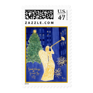 Rockefeller Angel Golden Border Postage