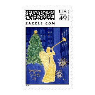 Rockefeller Angel Postage Stamp