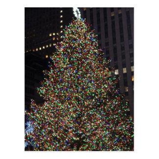 Rockefeller árbol diciembre de 2013 tarjeta postal