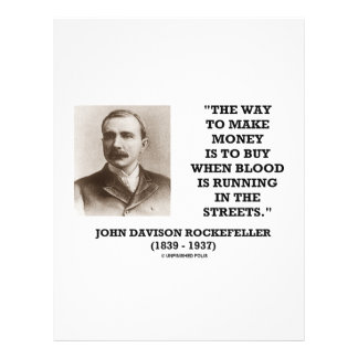 Rockefeller Buy When Blood Is Running In Streets Flyer