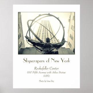 'Rockefeller Center & Atlas' Poster