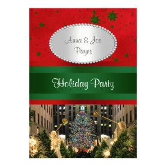 Rockefeller Center Christmas Tree, Red Grn Stars P Cards