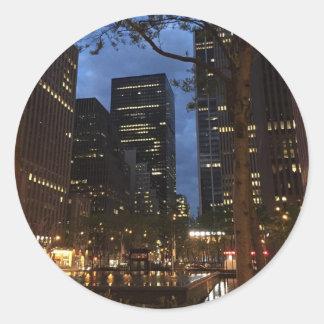 Rockefeller Center Dawn NYC Architecture New York Classic Round Sticker