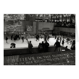 Rockefeller Center Ice Rink Card