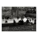 Rockefeller Center Ice Rink Card Cards