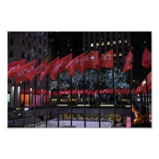 Rockefeller Center Ice Skating Rink NYC Photograph Poster