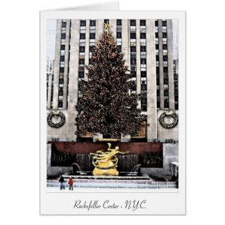 Rockefeller Center - New York City Greeting Card