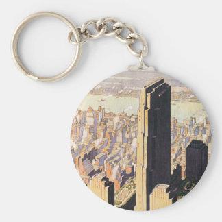 Rockefeller Center New York Keychain