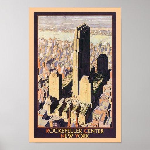 Rockefeller Center New York Poster