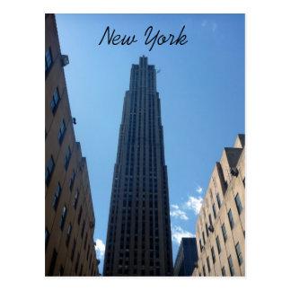 rockefeller new york postcard