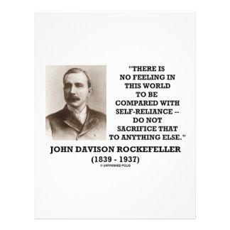 "Rockefeller No Feeling Self-Reliance Sacrifice 8.5"" X 11"" Flyer"