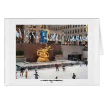 Rockefeller Plaza Skating Rink Card