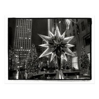 Rockefeller Plaza Swarovski Crystal Star Postcard Post Card