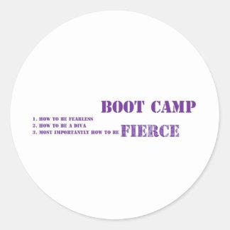 Rockems Fierce Boot Camp Round Stickers