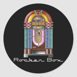 Rocker Box Jukebox Classic Round Sticker