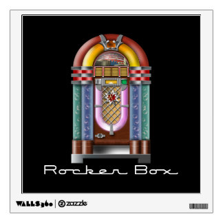 Rocker Box JukeBox Retro Rock Wall Sticker