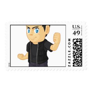 Rocker Boy Postage Stamp