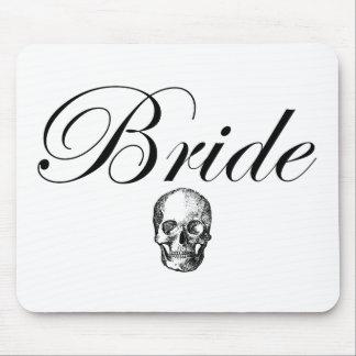 Rocker Bride Goth Skull Mouse Pad