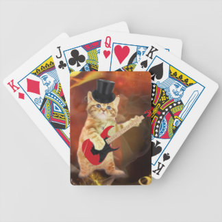 rocker cat in flames bicycle playing cards