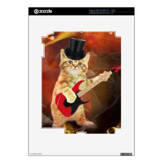 rocker cat in flames iPad 2 decal