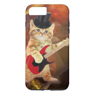 rocker cat in flames iPhone 8 plus/7 plus case