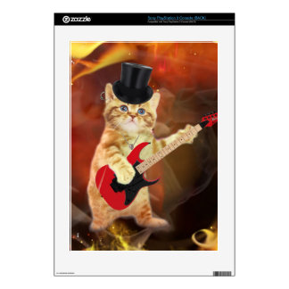 rocker cat in flames skin for the PS3