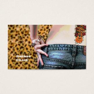 Rocker Chic DJ Business Card Template
