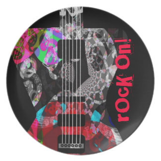 'Rocker Collection' one-of-a-kind guitar plate! Plate