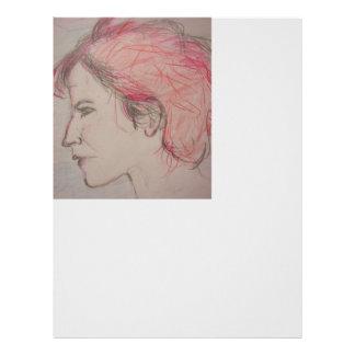 rocker girl portrait letterhead