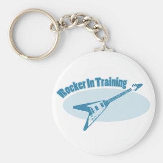Rocker in Training Basic Round Button Keychain