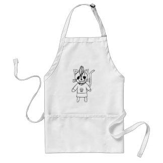 Rocker kitty adult apron