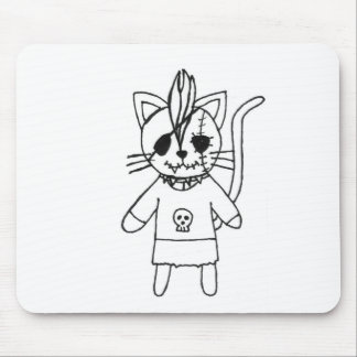 Rocker kitty mouse pad