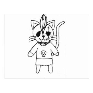 Rocker kitty postcard