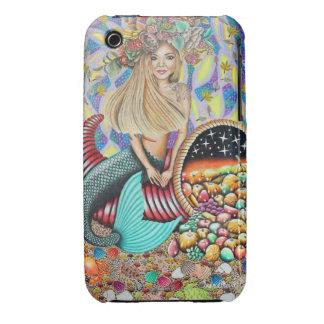 Rocker Mermaid And The Enchanted Cornucopia iPhone 3 Cover