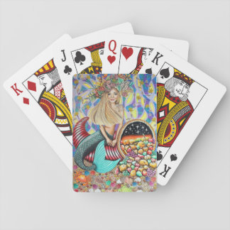 Rocker Mermaid And The Enchanted Cornucopia Playing Cards
