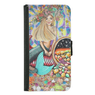 Rocker Mermaid And The Enchanted Cornucopia Wallet Phone Case For Samsung Galaxy S5
