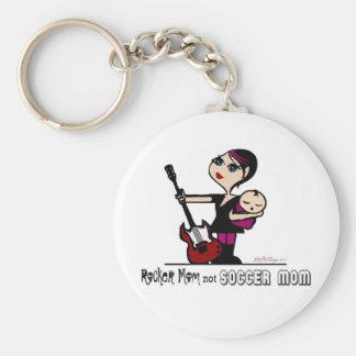 Rocker Mom, Not Soccer Mom Keychain