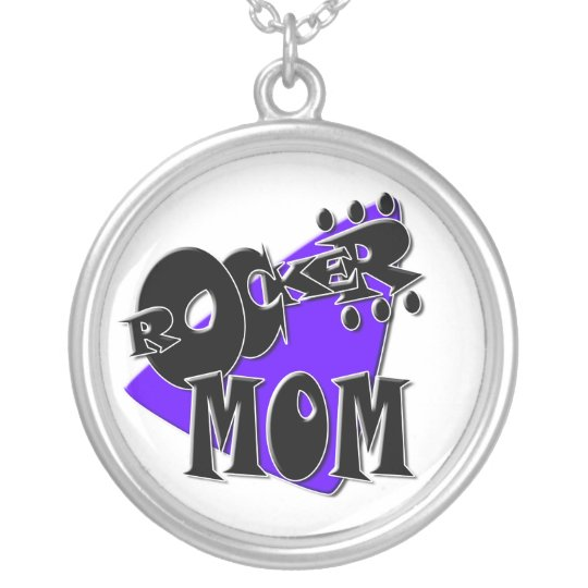 Rocker Mom Silver Plated Necklace