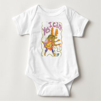 rocker moose has empowering message! baby bodysuit