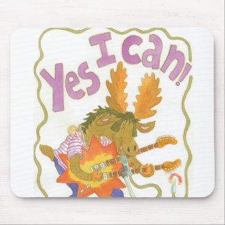 "rocker moose sings it loud ""YES I CAN!"" Mouse Pad"